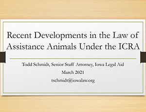 Recent Developments in the Law of Assistance Animals under the Iowa Civil Rights Act - Thumbnail